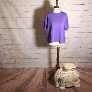 EL DAWS Short Sleeve Cashmere Crewneck Sweater